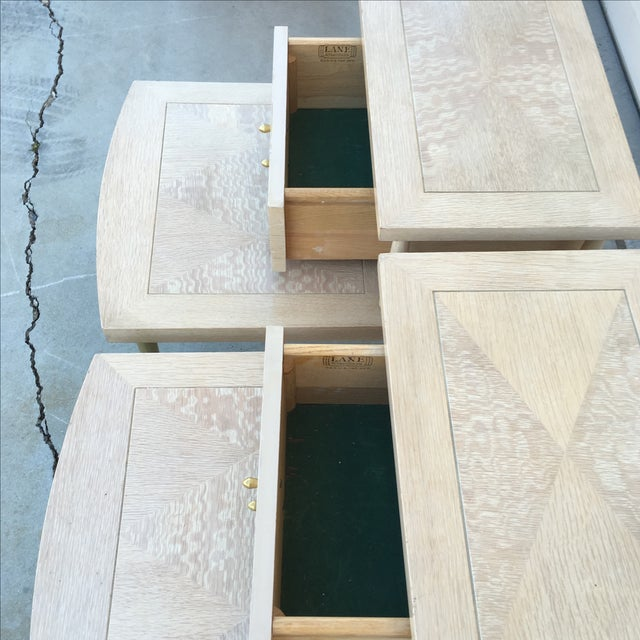 Mid-Century Modern Lane Maple Nightstands - A Pair - Image 10 of 11
