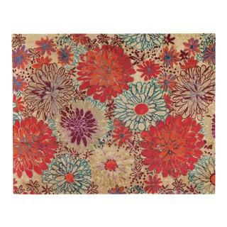 Bouquet w/ Linen Autumn, 9 x 12 Rug For Sale