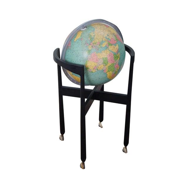 Jens Risom Hans Knoll Mid-Century Wood Frame Globe For Sale