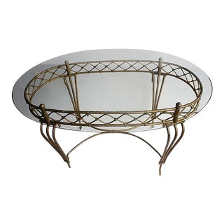 Antique French Glass Top Decorative Table For Sale