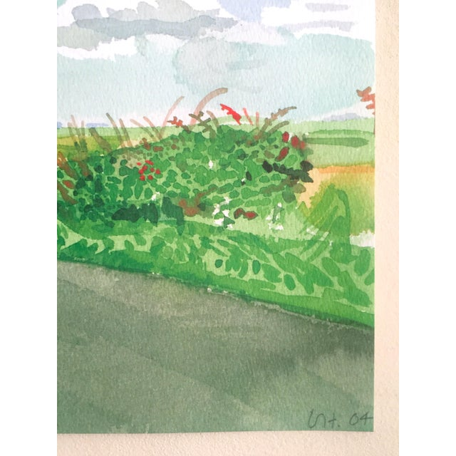 """David Hockney Fine Art Lithograph Print Midsummer : East Yorkshire Series """" Road and Tree Near Wetwang """" 2004 For Sale - Image 10 of 13"""