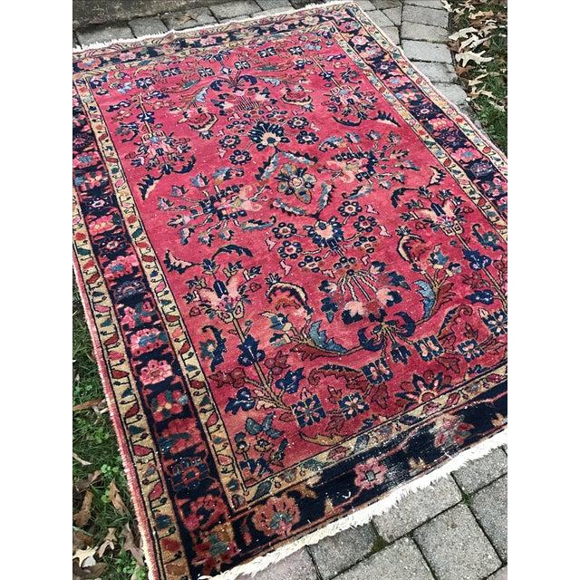 "Vintage Persian Sarouk Rug - 5'1""x 6'7.5"" - Image 3 of 5"