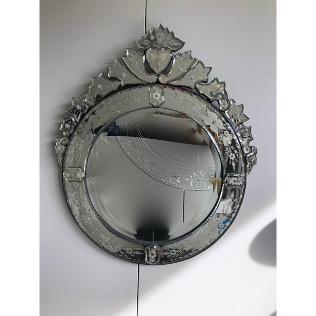 Early 20th Century Vintage Round Venetian Mirror 26x30 For Sale - Image 12 of 12