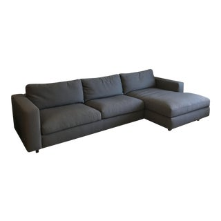 DWR Reid Gray Left Chaise Sectional For Sale