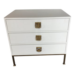 Hollywood Regency Resource Decor White Lacquer Chest For Sale