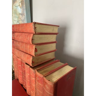 1950s Vintage French Red Books of 19th and 20th Century Authors - Set of 16, Appraised Preview