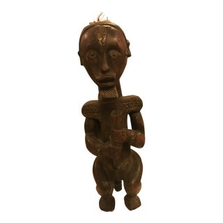 African -Fang Tribe, Ceremonial Male Figure, Hand-Carved, Vintage For Sale