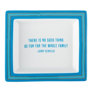 Jerry Seinfeld Wise Sayings Gentleman's Trinket Tray by Kenneth Ludwig Chicago For Sale