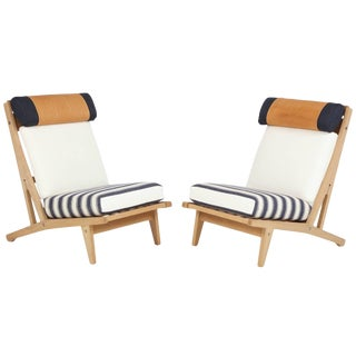 "Circa 1960's Hans J. Wegner Denmark ""Getama"" Lounge Chairs- a Pair For Sale"