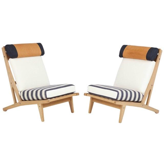 """Circa 1960's Hans J. Wegner Denmark """"Getama"""" Lounge Chairs- a Pair For Sale"""