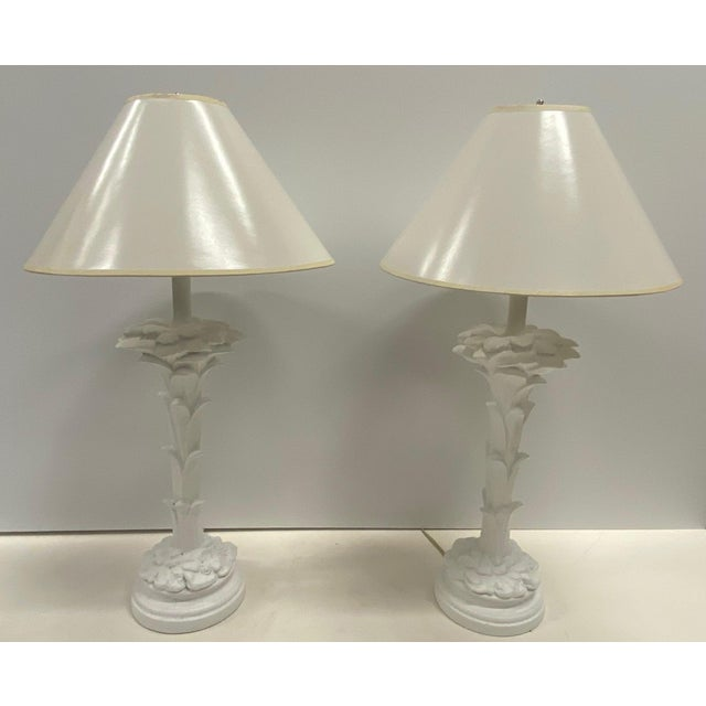 Serge Roche Style Palm Motife Table Lamps For Sale - Image 10 of 12