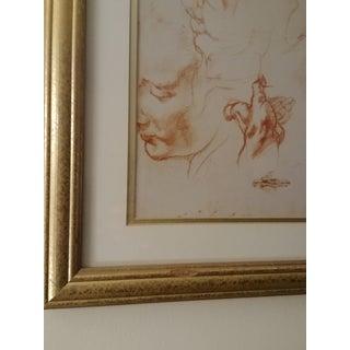 Framed Michelangelo Anatomy Sketch Preview