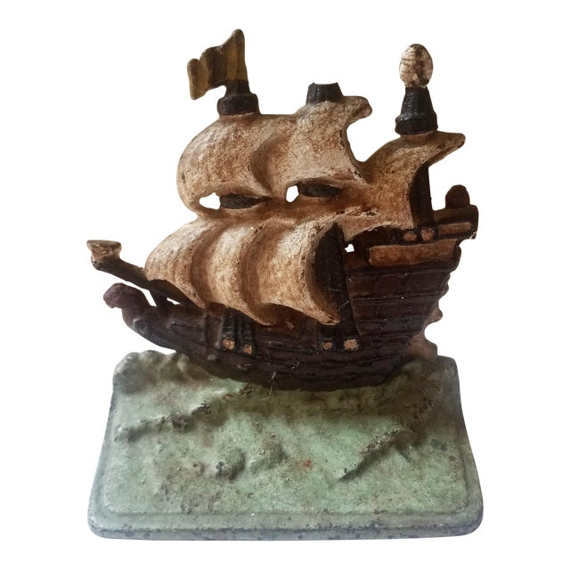 1940s Traditional Iron Boat Door Stop For Sale