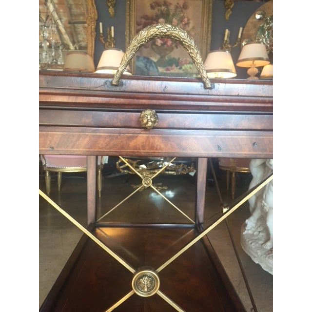 Bronze Drinks Cart Tea Table With Removable Tray Top For Sale - Image 7 of 9
