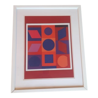 Victor Vasarely Alphabet v.r. Off Set Lithograph For Sale