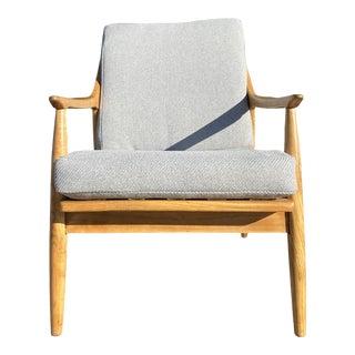 Danish Modern Oakwood Lounge Chair For Sale
