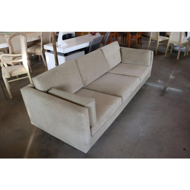 1970s Tuxedo Sofa in Milo Baughman Style For Sale - Image 5 of 6