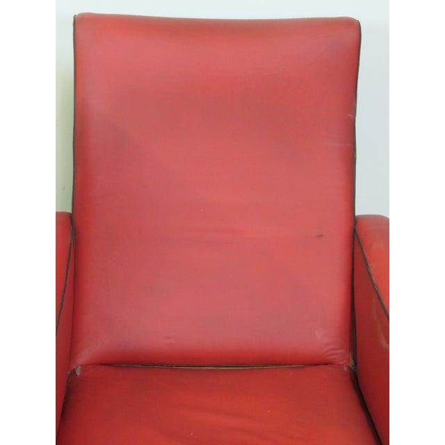 Zanuso Style Metal Leg Lounge Chairs - Pair - Image 3 of 6