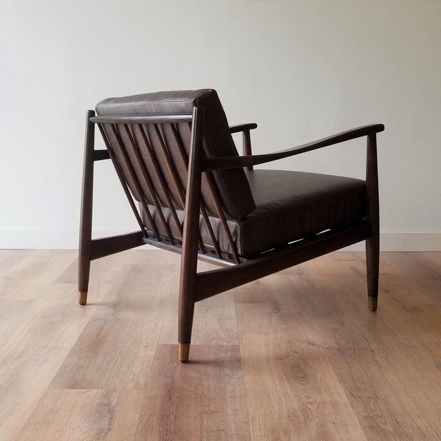 Folke Ohlsson 1960s Newly Upholstered Folke Ohlsson Lounge Chair For Sale - Image 4 of 13