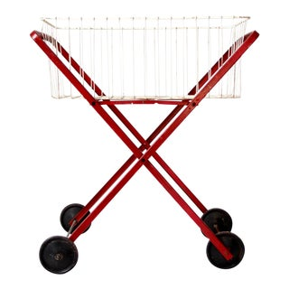 Mid-Century Laundry Cart For Sale
