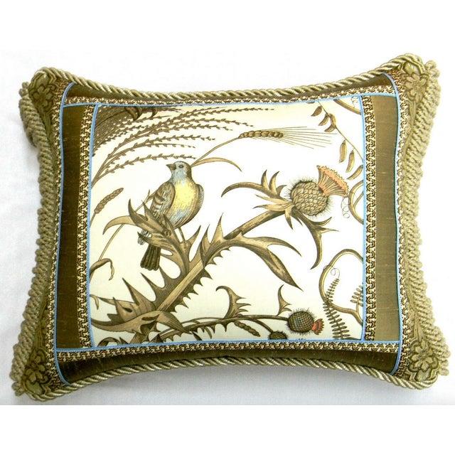 """Brunschwig Fils, Bird Thistle Toile accent Throw Pillow. Pillow is made with Brunschwig & Fils fabric, Toile called """"Bird..."""