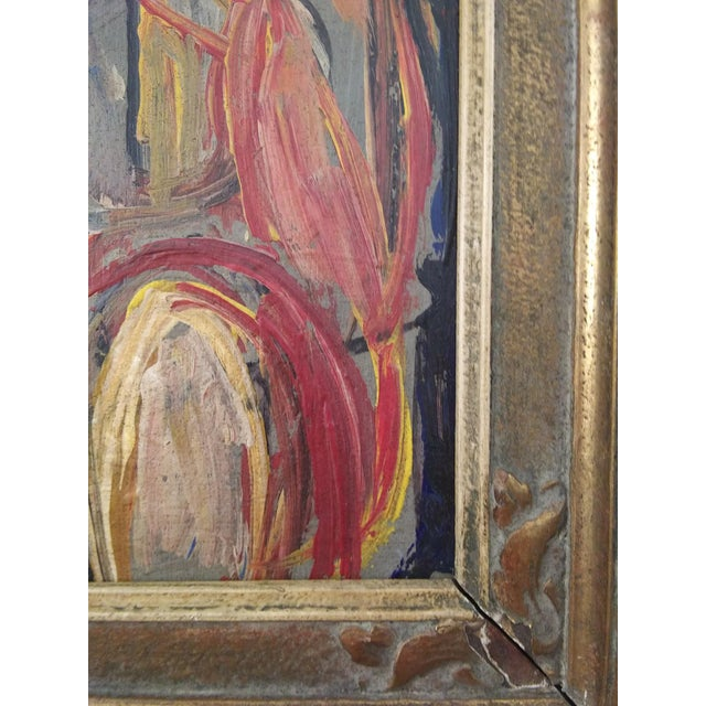 Cubism Vintage Mid-Century Nude Female Portrait Painting For Sale - Image 3 of 6