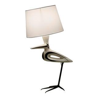 Roger Capron Lampe Oiseau- Echassier For Sale