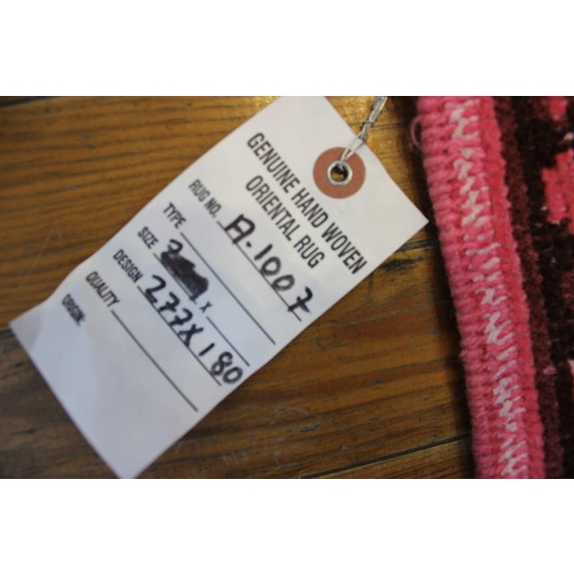 """5'9"""" X 9' Turkish Handmade Pink Overdyed Rug For Sale - Image 7 of 7"""