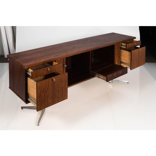 Midcentury Rosewood Credenza For Sale - Image 4 of 11