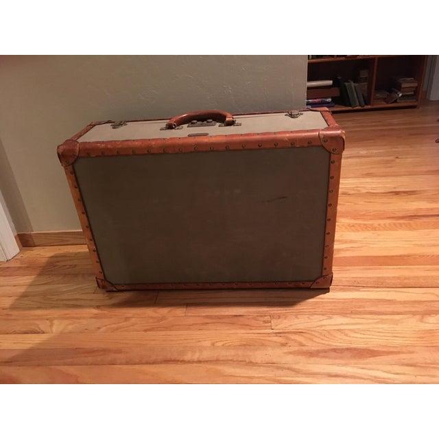 Vintage Ralph Lauren Canvas/Leather Suitcase For Sale - Image 13 of 13