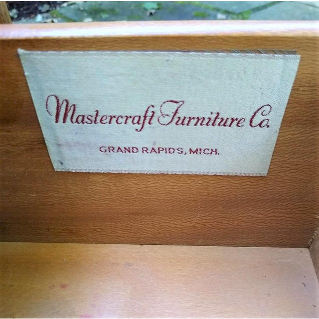 Wood Mid-Century Mastercraft End Table For Sale - Image 7 of 11