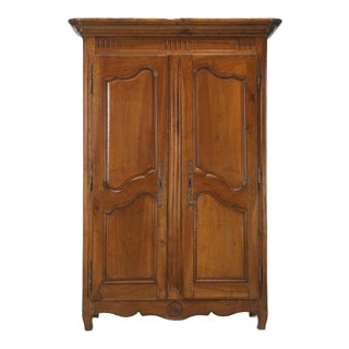 Antique French Solid Walnut Armoire From the Toulouse Area, Circa 1775 For Sale