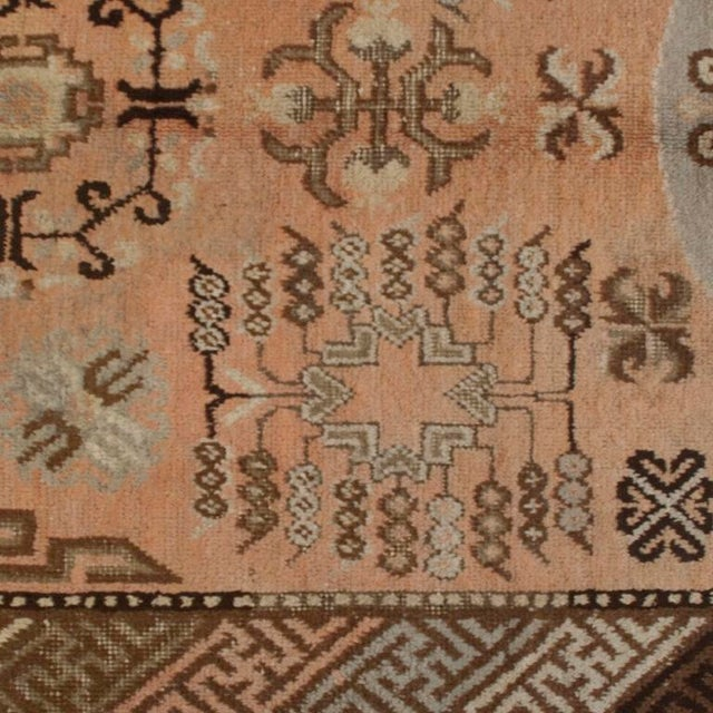 Asian Early 20th Century Central Asian Samarghand Carpet - 4′8″ × 8′9″ For Sale - Image 3 of 5