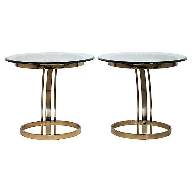 Brass & Glass Side Tables - A Pair - Image 7 of 8