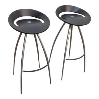 Design Italia Magis Lyra Bentwood Stools - a Pair For Sale