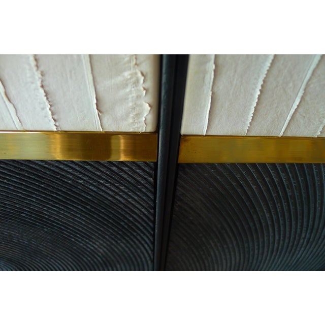 Contemporary Textured Wall Art Triptych by Paul Marra - 3 Panels For Sale - Image 3 of 10