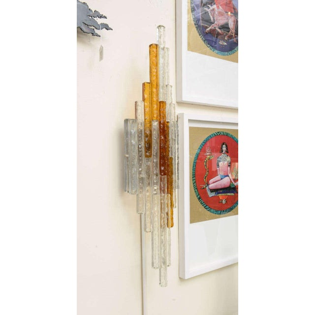 Italian Sculptural Glass Wall Sconce For Sale - Image 3 of 8