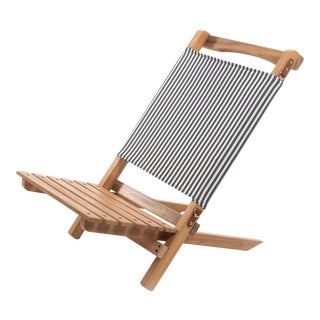 2 Piece Outdoor Chair - Lauren's Navy Stripe For Sale