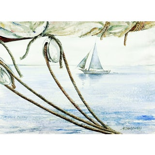 Marjory Stark Buckley Nautical Watercolor Painting For Sale