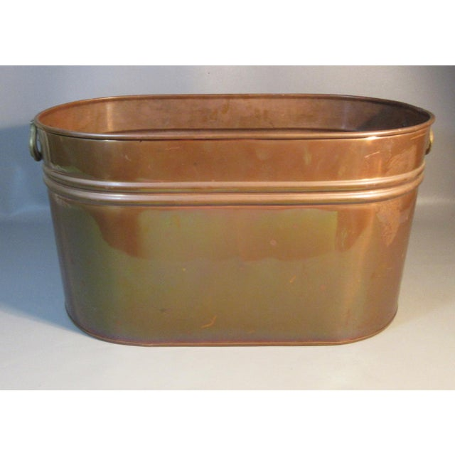 1960s Vintage Copper Lined Copper Boiler Wash Tub For Sale - Image 5 of 6