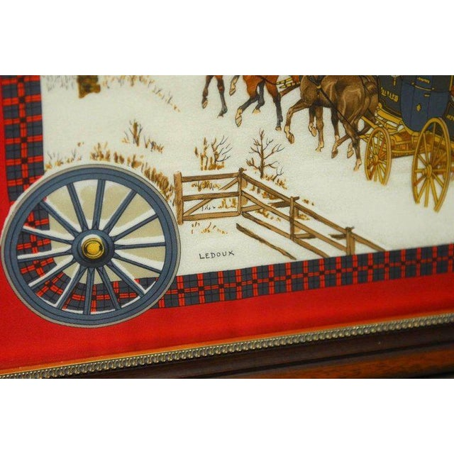 """Framed Hermes Scarf """"Bull and Mouth Regent's Circus Piccadilly"""" - Image 5 of 10"""