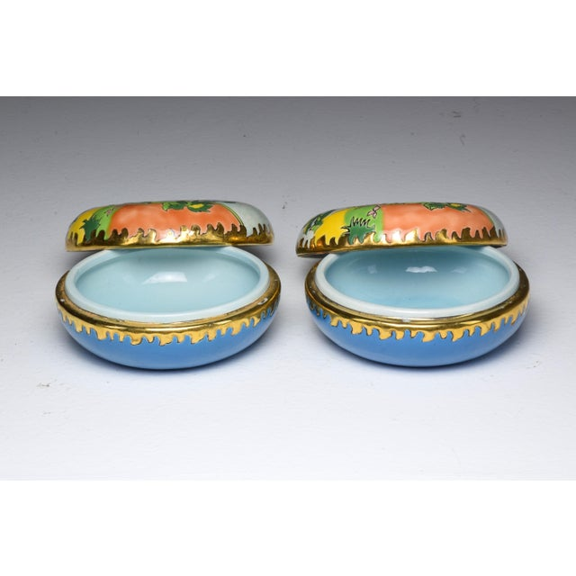 Pair of 20th Century French Trinket or Jewelery Longwy Boxes For Sale - Image 6 of 13
