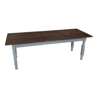 Vintage Rustic French Country Dining Table For Sale