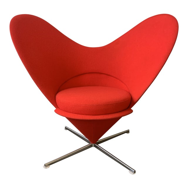1960s Vintage Verner Panton Heart Chair For Sale