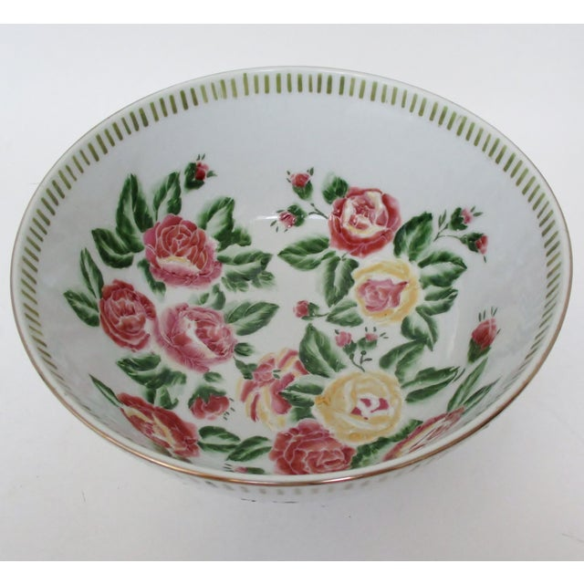 Ceramic Chinese Porcelain Serving Bowl For Sale - Image 7 of 7