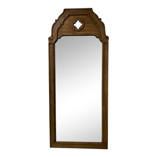 Thomasville 1969 Large Stroupe Collection Mirror With Wood Frame