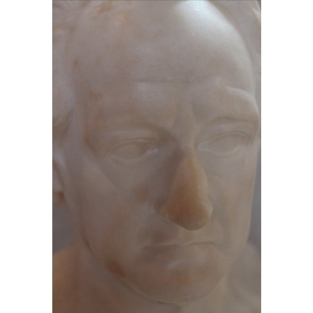 Marble Johann Wolfgang Von Goethe Marble Bust Statue For Sale - Image 7 of 10