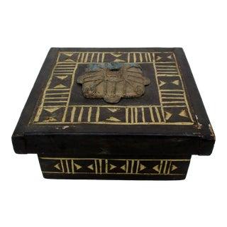 Ghanaian Wood & Metal Box