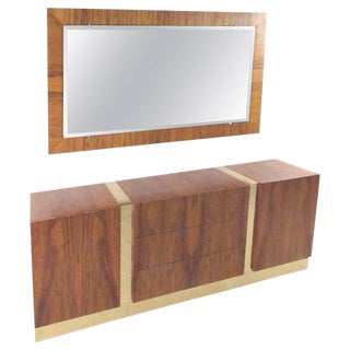 Thayer Coggin Dresser With Mirror by Milo Baughman