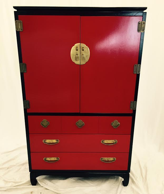 lacquered black asian style dresser chairish